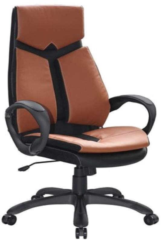 Brown chair with black base