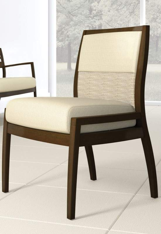 White chair with brown base