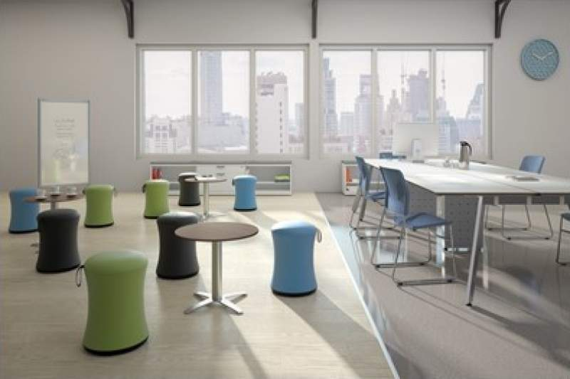 Open Work Area with a white conference table