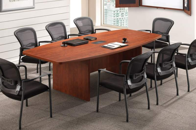 Medium sized brown conference table