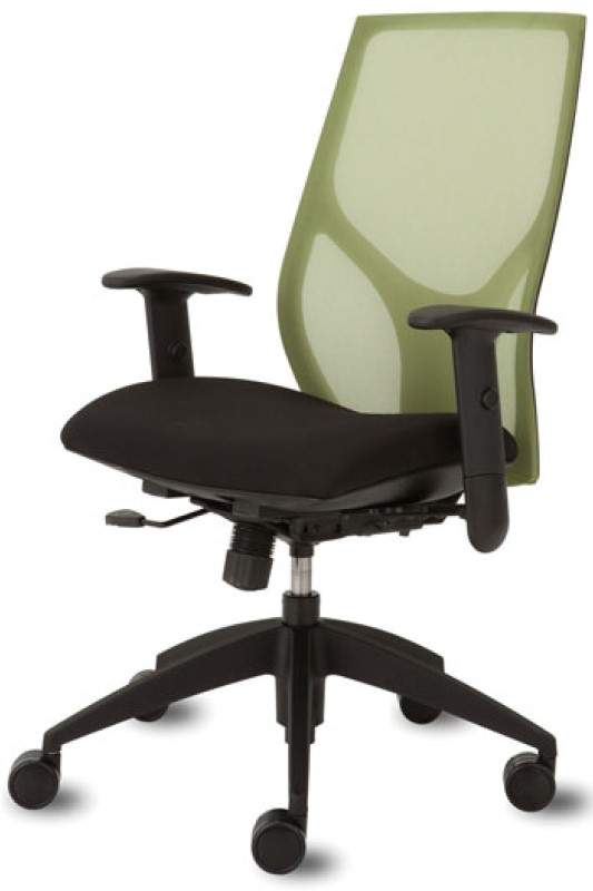 Swivel Chair with Green Back